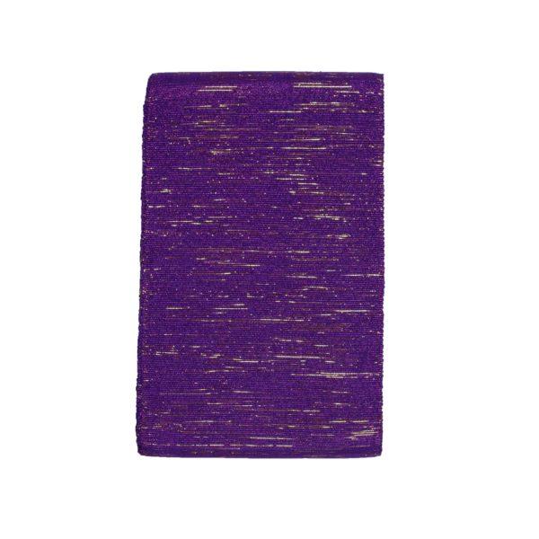 Aso Oke 8 Stripes 100464 Purple&Gold