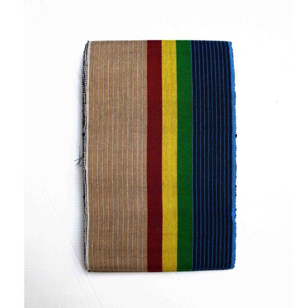 Aso Oke Etu Sanyan + Flag 100214 Multicolored stripes