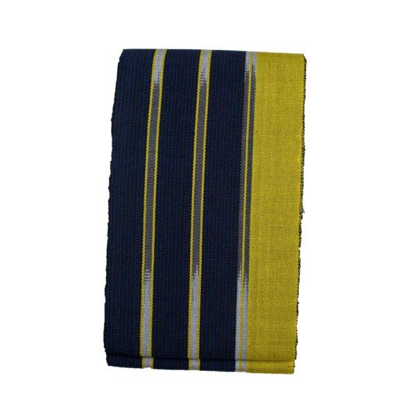 Aso Oke Indigenous Dyed 100027 Black&Yellow