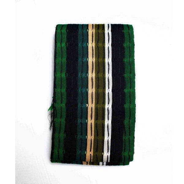 Aso Oke Onjawu 1 inch 100057 Black&Green