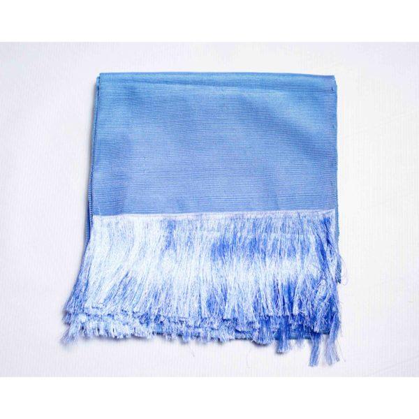 Aso Oke Silk Agbada100607 Sky Blue