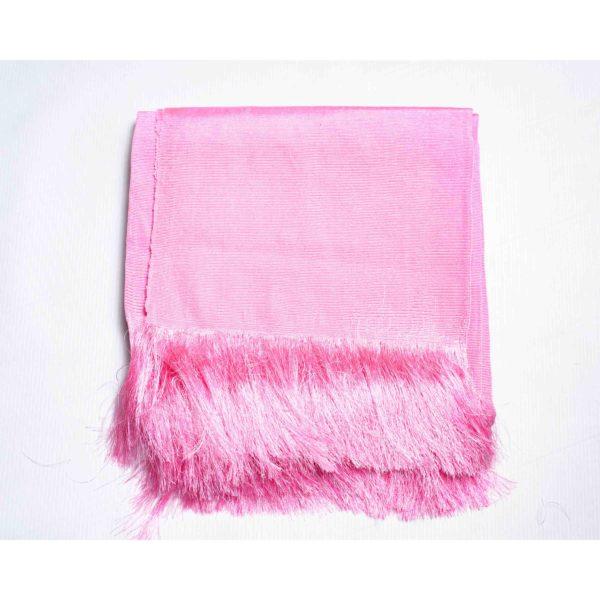 Aso Oke Silk Wrapper 100606 Baby Pink