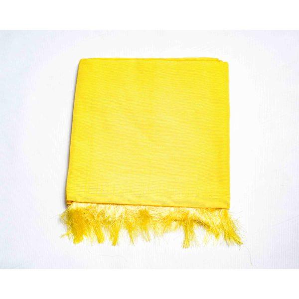 Aso Oke Silk Wrapper 100606 Bright Yellow