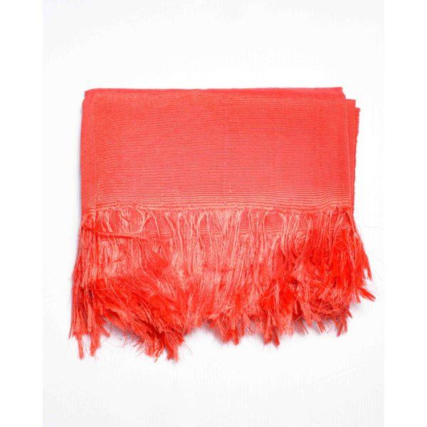 Aso Oke Silk Wrapper 100606 Coral Peach