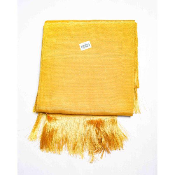 Aso Oke Silk Wrapper 100606 Deep Gold