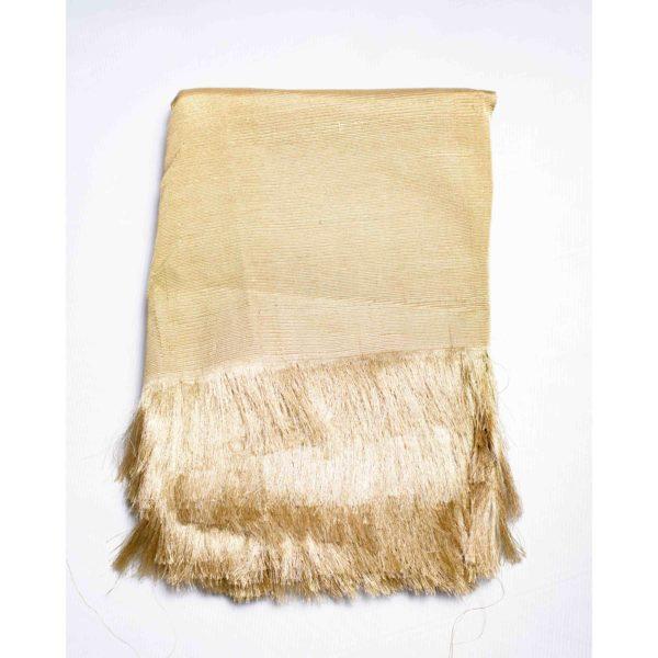Aso Oke Silk Wrapper 100606 Gold