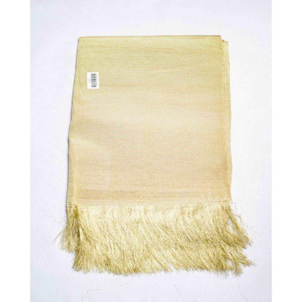 Aso Oke Silk Wrapper 100606 Light Gold