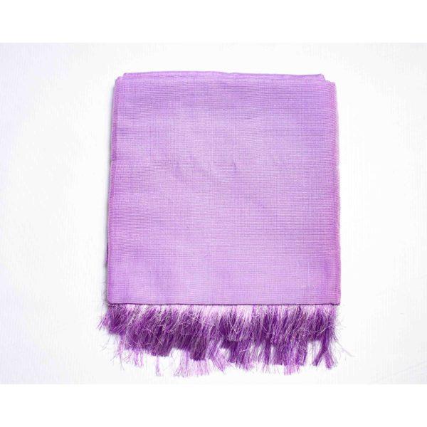 Aso Oke Silk Wrapper 100606 Lilac