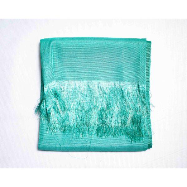 Aso Oke Silk Wrapper 100606 Mint
