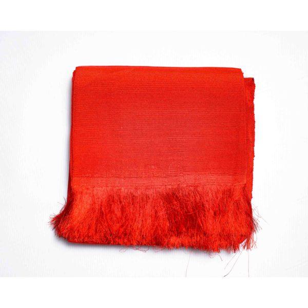 Aso Oke Silk Wrapper 100606 Orange