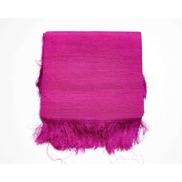 Aso Oke Silk Wrapper 100606 Purple