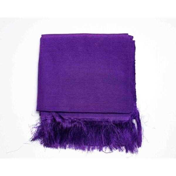Aso Oke Silk Wrapper 100606 Royal Blue