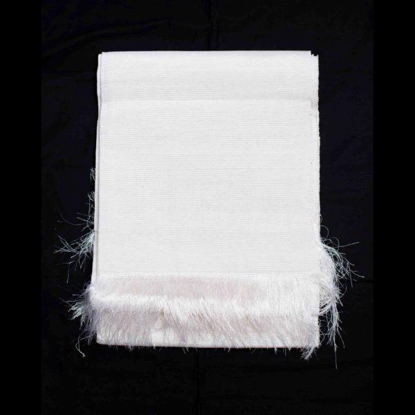 Aso Oke Silk Wrapper 100606 White