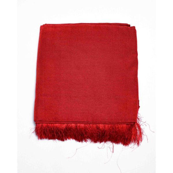 Aso Oke Silk Wrapper 100606 Wine Red