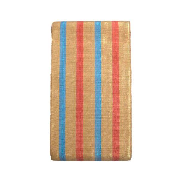 Aso Oke Stripes Cotton Crowntex 100203 Gold&Blue