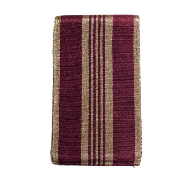 Aso Oke Stripes Cotton Crowntex 100203 Purple&Gold