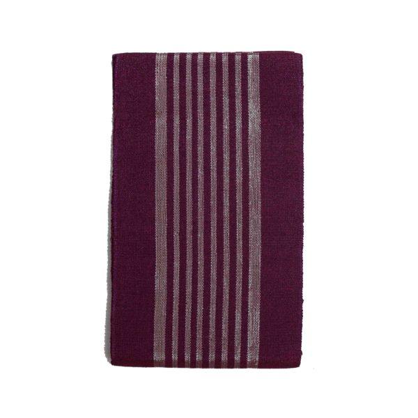 Aso Oke Stripes Cotton Crowntex 100203 Purple&Silver