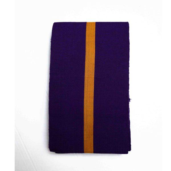 Aso Oke Stripped 100052 Purple&Gold