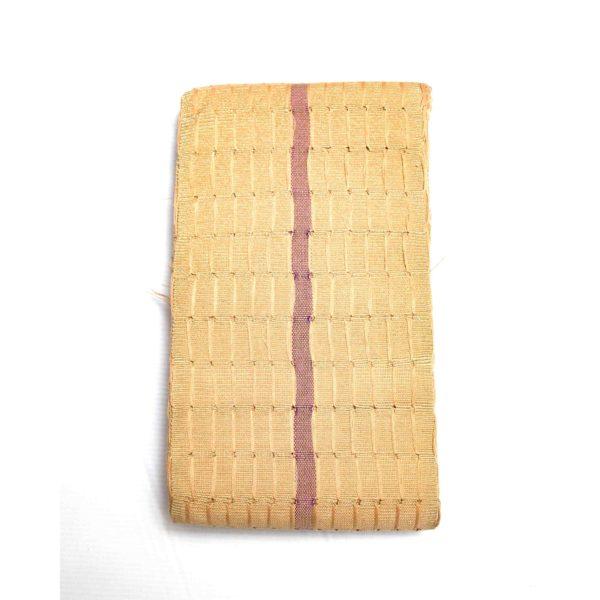 Cotton Onjawu 1 inch Aso Oke 100047 Champagne Gold&Blush