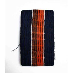Etu Orange Onjawu 1 inch Aso Oke 100056 Orange&Navy blue