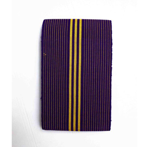 Small Isembaye Aso Oke 100046 Purple&Yellow